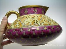 JPL Limoges Purple & Gold Pitcher Vase James Pouyat