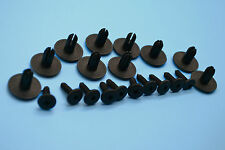 10 X SKODA FABIA BLACK PLASTIC RIVET TRIM PANEL RETAINER FASTENERS CLIPS