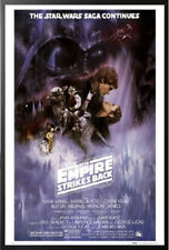 Empire Strikes Back Star Wars Poster Dry Mount in Black Wood Frame 24x36