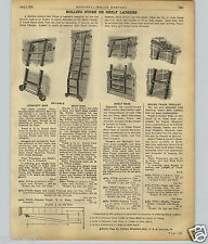 1922 PAPER AD Reliable Rolling Wheeled Store Library Ladder Track Myers Milbradt