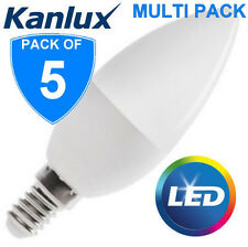 5x Kanlux 6.5W T SMD E14 LED High Lumen Candle Light Bulb Lamp 600lm Cool White