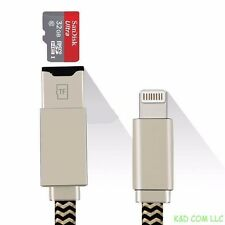 New iDragon USB charging Cable adapter micro sd card for iPhone 6 USA Seller