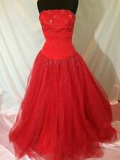 NWTS Alyce Prom Style 6564 Pagent or Prom Dress  Red Strapless gown Size 10