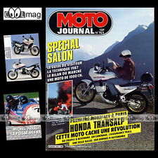 MOTO JOURNAL N°765 ★ HONDA XL 600 V TRANSALP ★ XLV, GRAND PRIX HOCKENHEIM 1986