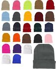 Unisex Men Women's Beanie Solid Color Warm Plain Acrylic Knit Ski Beanie