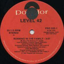 LEVEL 42 Running In The Family (1987 U.S. Double Side A Promo 12inch)