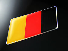 2PCS German Flag Emblem Badge FIT VW GOLF7 6 GTI CC Jetta BMW Benz Porsche Audi