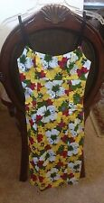 NWT Necessary Objects Yellow Floral Sheath Dress XS $68