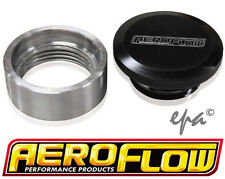 """AEROFLOW 1-1/2"""" STEEL WELD-ON DIFF FILLER WITH BLACK ANODIZED ALLOY CAP AF461-20"""