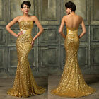 Sexy Sequins Mermaid Formal Evening Gown Party Prom Ball Long Bridesmaid Dresses