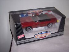 AMERICAN MUSCLE - ERTL- 1969 SHELBY GT-500 - RED DROP TOP- STRAPPED - NEW IN BOX
