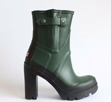 Hunter Original Tobillo Wellingtons extracción verde sobre Nieve Invierno Botas Festival UK 4