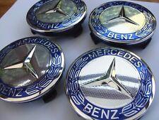 4pcs 75mm Mercedes Benz wheel caps AMG SET Emblem Logo For B A E S SL CLK ML CLS