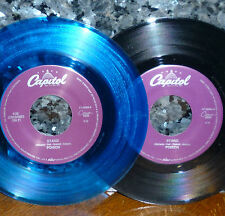"* * POISON PAIR ""STAND/UNTIL YOU SUFFER"" blue + black vinyl 2 UNPLAYED MINT 45s!"