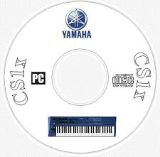 Yamaha CS1x Sound Library, Patches, Manual, MIDI Software & Editors CD - CS 1x