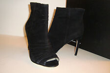 INC International Concepts Womens NWB Rae Black Open Toe Boots Shoes 7.5 MED NEW