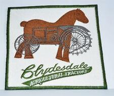Embroidered cloth badge  / panel  -  Clydesdale Vintage Tractors - horse tractor