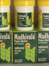 3 x AYURVEDA MADHIVALA  JARS OF STRONG BALM  PAIN  RELIEVER   75 gm