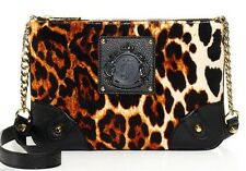 NWT Juicy Couture Leopard Velour Crossbody Bag Dust bag Included Orig $128