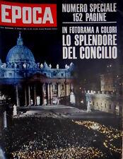 Epoca 630 1962 Foto a colori del concilio di Roma. Nuovi programmi TV