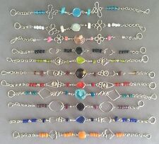 10 wholesale Peruvian murano glass bracelets alpaca silver colorful lot