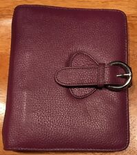 Franklin Covey Personal Size Leather Planner In Plum Color