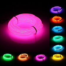 10M EL Led Flexible Soft Tube Wire Neon Glow Car Rope Strip Light Xmas Decor DC