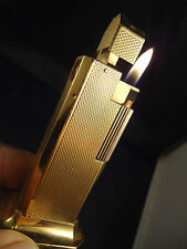 Dunhill TallBoy Table Lighter - Gold Plated - Serviced - Feuerzeug/Briquet