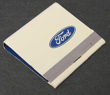 NOS Vintage Ford Motors Automobile Dealer Advertising Matchbook Match Detroit