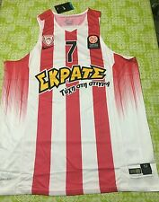 CANOTTA OLYMPIACOS ATENE PIREO PIRAEUS 7 SPANOULIS EUROLEAGUE BASKETBALL XL