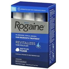 Rogaine Hair Regrowth for Men 5%Minoxidil Topical Foam 3 month exp 2018/03 andUp