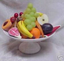 Stone Alabaster Marble Italy 1 Bowl 19 Pieces Fruit Half Haves Huge 20 Pcs Total