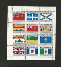 CANADA SC. 832a MINT SHEET OF 12 FLAGS OF CANADA 821 - 832 MNH