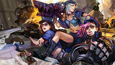 Poster 42x24 cm League Of Legends Caitlyn Vi Jinx Policia / Police LOL