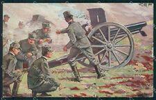 Militari WWI Propaganda Artiglieria Polli STRAPPINO cartolina XF0383