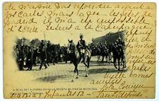 Cartolina Originale S.M.El Rey Alfonso XIII En La Revista Militar De Mayo 1902