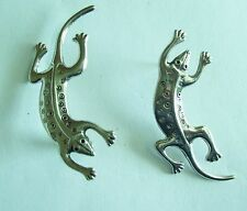 LAUREL BURCH Silver Tone LIZARD Earrings