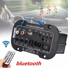 220V / 50W Coche Bluetooth HiFi Bajo Estéreo Amplificador USB SD TF MP3 FM