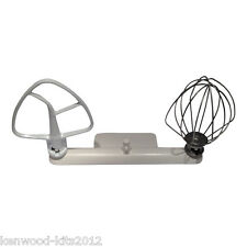 Kitchenaid Artisan Wire Whisk K45WW, Flat Beater K45B & A Mixermaid Tool Holder.