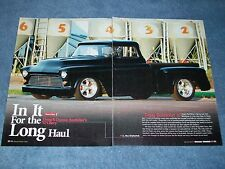 """1957 Chevy Stepside Custom Big Window Pickup Article """"In It For the Long Haul"""""""