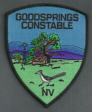 GOODSPRINGS CONSTABLE NEVADA POLICE PATCH ROADRUNNER!