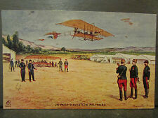cpa militaire illustrateur signée 1915 parc d'aviation