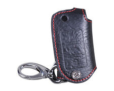 Leather Remote Key Chain Holder Case Cover fit VW Golf Jetta Passat GTI OCTAVIA
