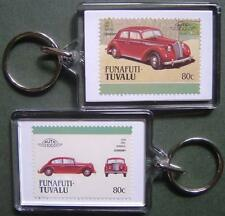1938 OPEL ADMIRAL Car Stamp Keyring (Auto 100 Automobile)