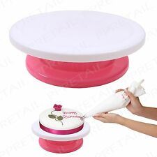 Cake Decorating Turntable +DECORATE EASILY+ Professional Spinning Baking/Cooking