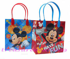 12 PC DISNEY MICKEY MOUSE GOODIE GIFT BAGS PARTY FAVORS CANDY TREAT BIRTHDAY BAG
