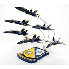 US Navy F/A-18 Blue Angels In Formation Desk Display 1/72 Jet ES Model Airplane