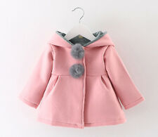 Baby Toddler Girls Warm Winter Coat Jacket Hooded Snowsuit Kids Clothes Outfits