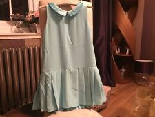NEXT GIRLS MINT SEQUIN COLLAR DRESS-age 6