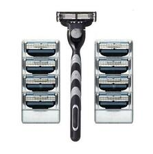 8pcs razor Blades & Razor Holder Shaving Razor Bladed Set Shaver Shave Razors